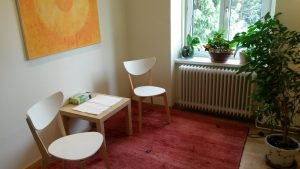 Praxisraum von Psychotherapie & Coaching in Krems
